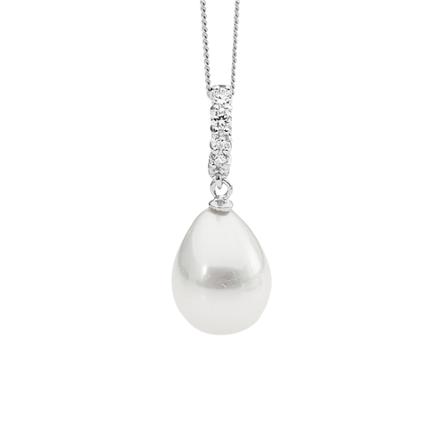 Pearl And CZ Neckalce_1