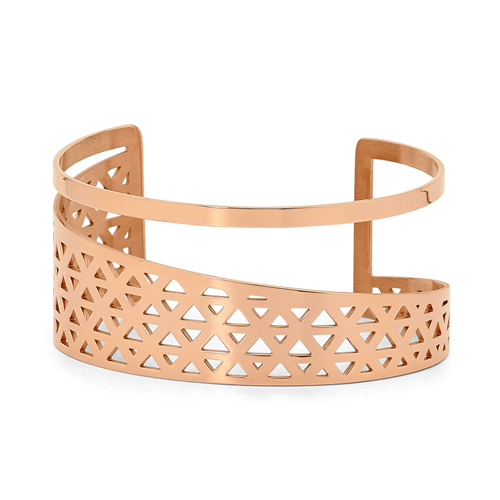 Pastiche Rose Plated Sounds of Silence Bangle_0