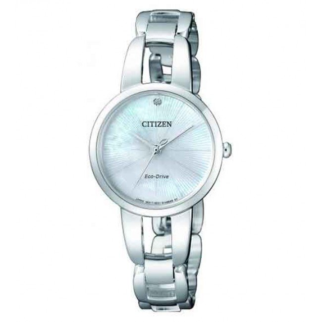 Citizen Silver Ladies Eco-Drive Watch_0