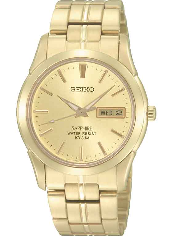 Seiko Gents Gold Watch_0