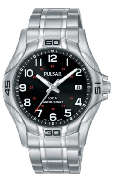 Pulsar Gents Black Dial Watch_0