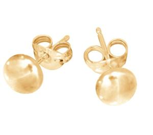Yellow Gold 7mm Flat Earrings_0