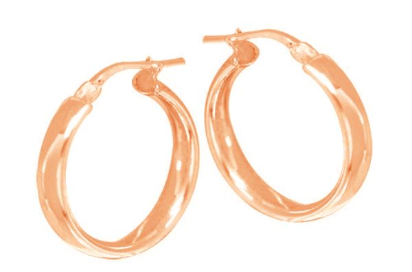 Rose Plated Hoops_0