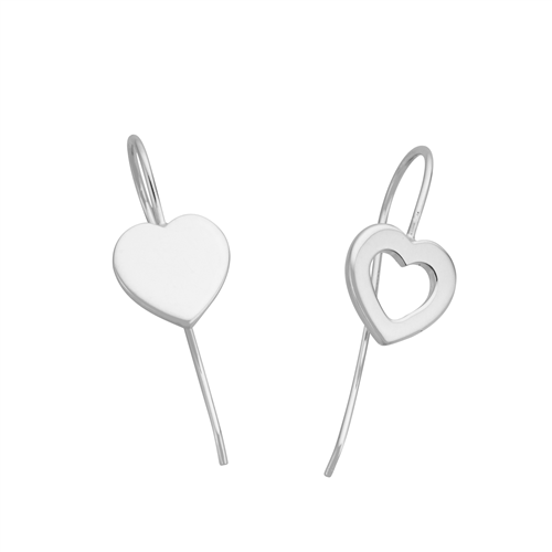 Silver Heart Hook Earrings_0